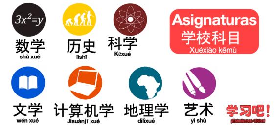 asignaturas en chino